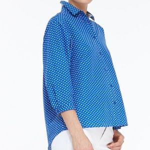 Burberry Brit Blue polka dot blouse top XS